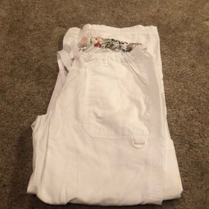 Koi white scrub pants